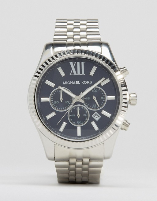 Michael Kors MK8280 Watch Lexington Chronograph Silver