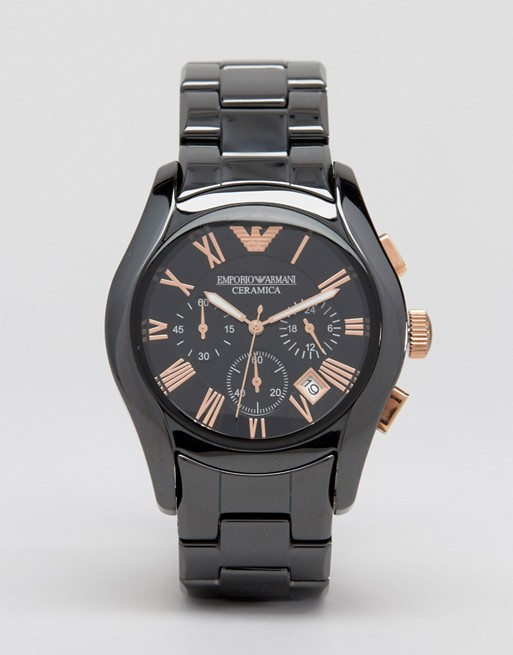 Emporio Armani AR1410 Chronograph Black Ceramic Watch