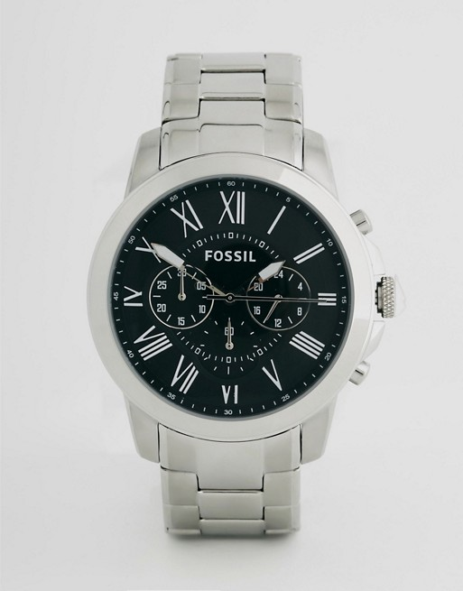 Fossil Grant Stainless Steel Chronograph Watch FS4736
