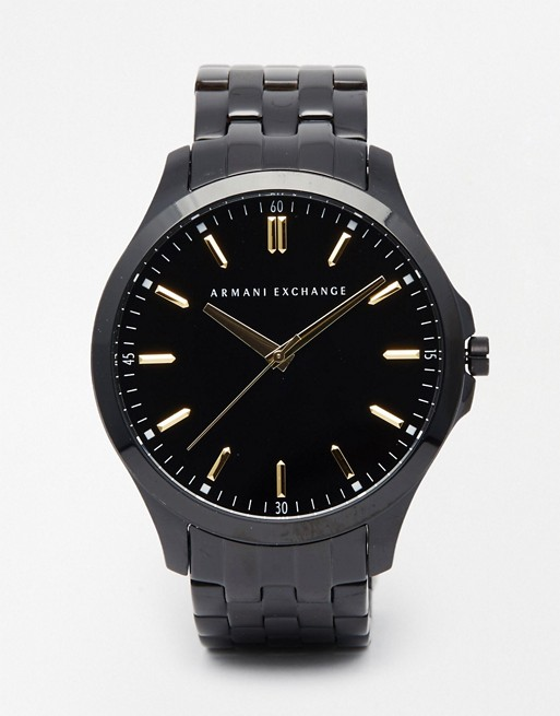 Armani Exchange Black Stainless Steel Watch AX2144