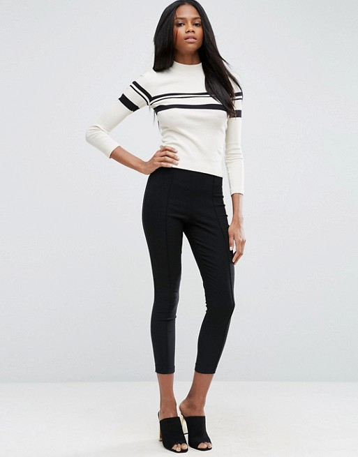 ASOS High Waisted Skinny Crop Pants