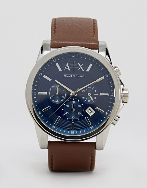Armani Exchange AX2501 Leather Strap Watch