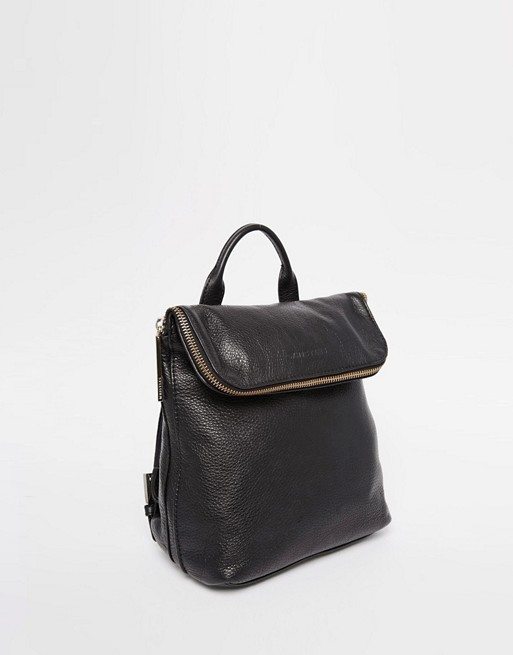 Whistles Leather Mini Verity Backpack in Black