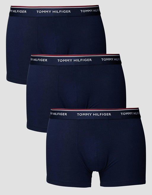 Tommy Hilfiger Stretch Trunks In 3 Pack