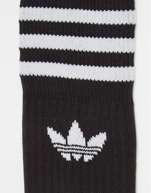 adidas Originals Solid Crew 3 Pack Socks S21490