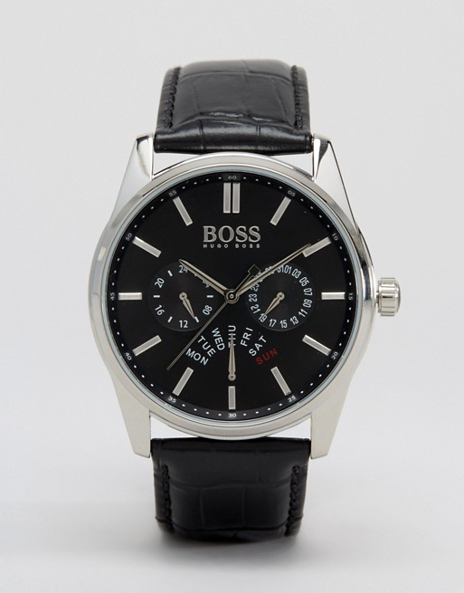BOSS By Hugo Boss 1513124 Chronograph Leather Strap Watch