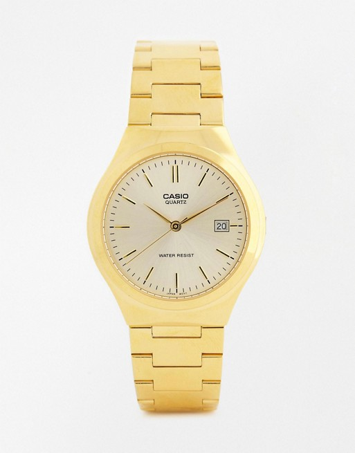 Casio Gold Stainless Steel Strap Watch MTP1170N-9A