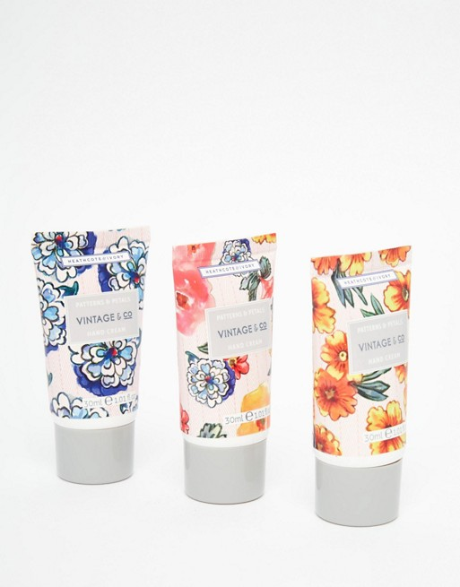 Vintage & Co Patterns & Petals Mini Hand Cream Trio 3 x 30ml