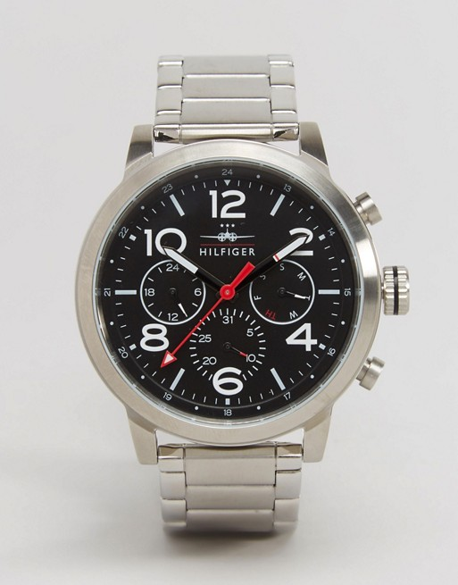 Tommy Hilfiger Jake Chronograph Bracelet Watch In Silver 1791234