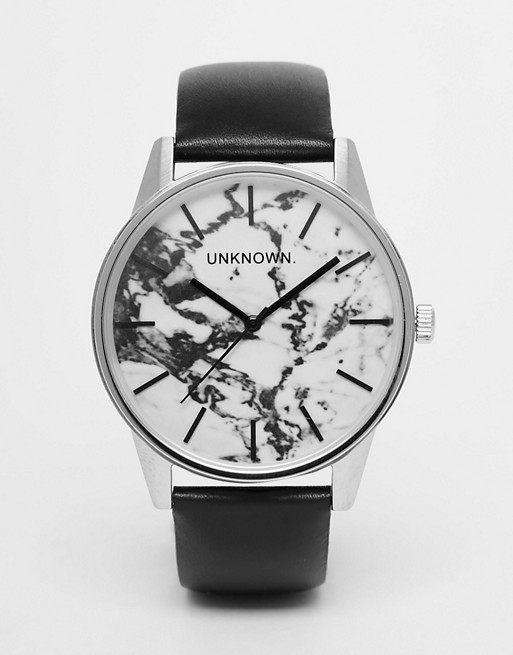 UNKNOWN Urban Marble Leather Watch 39mm