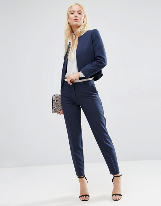 ASOS Ankle Grazer Cigarette Pants in Crepe