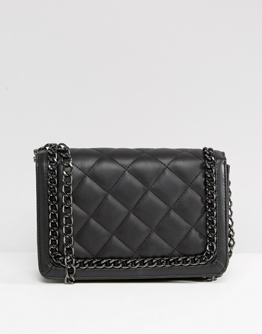 ASOS Quilted Shoulder Bag With Chain Handle