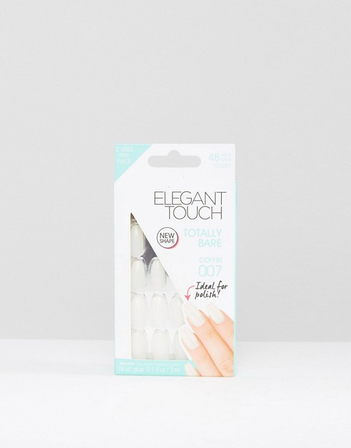 Elegant Touch Totally Bare Coffin Nail