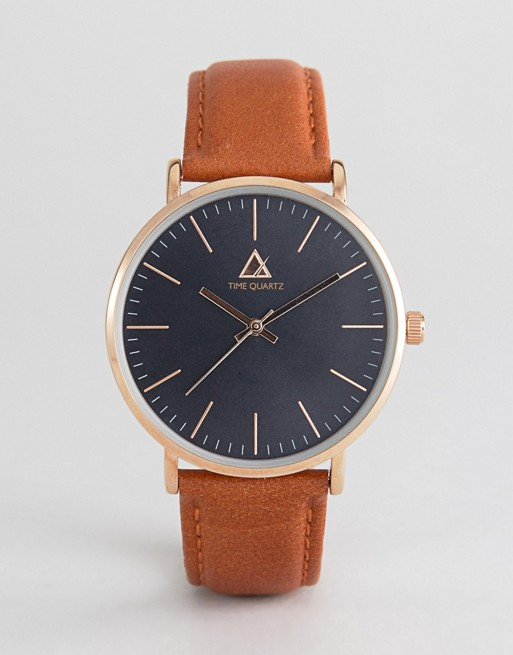 ASOS Watch With Classic Face and Leather Strap