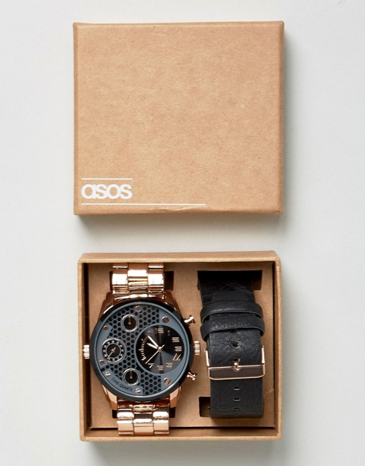 ASOS Oversized Interchangeable Bracelet Watch