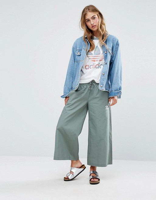 adidas Originals Culottes In Khaki