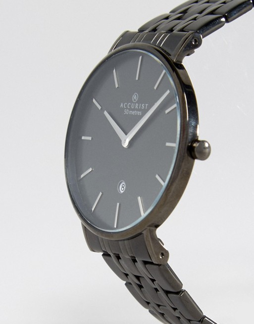 Accurist Bracelet Watch In Black