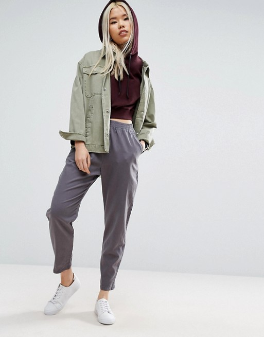 ASOS Washed Tapered Peg Pants