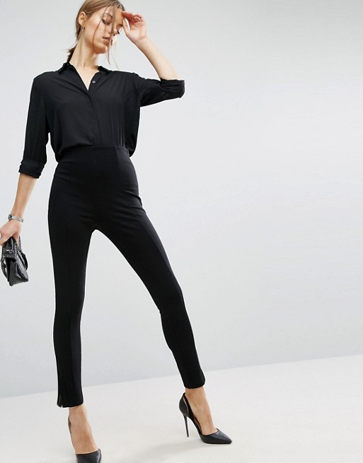 ASOS Super High Waisted Pants with Ankle Zips