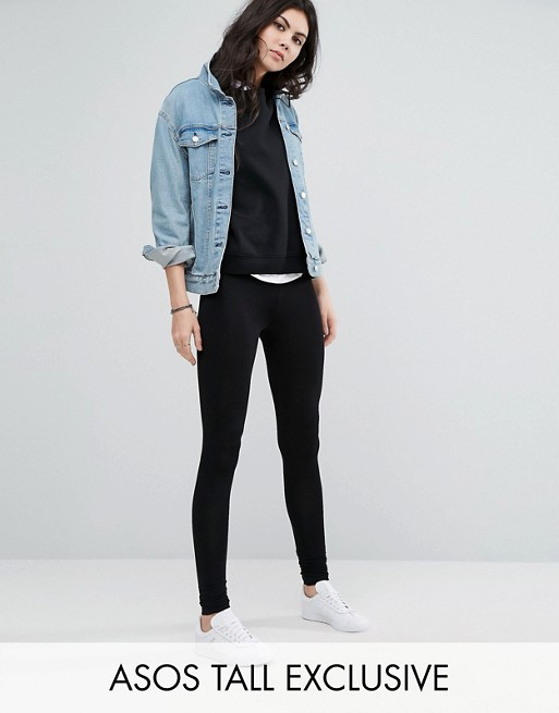 ASOS TALL High Waisted Leggings In Longer Length