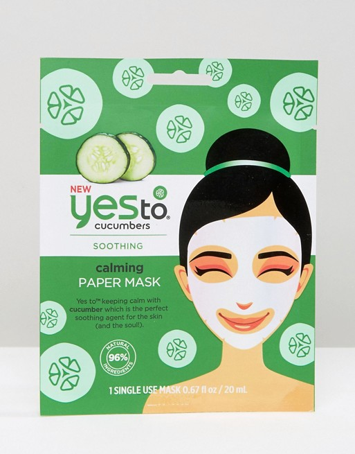 Yes To Cucumber Calming Paper Mask