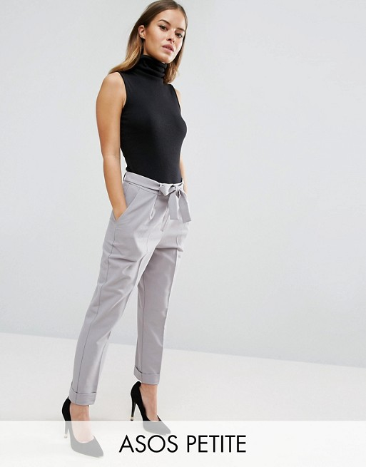 ASOS PETITE Woven Peg Pants with Obi Tie