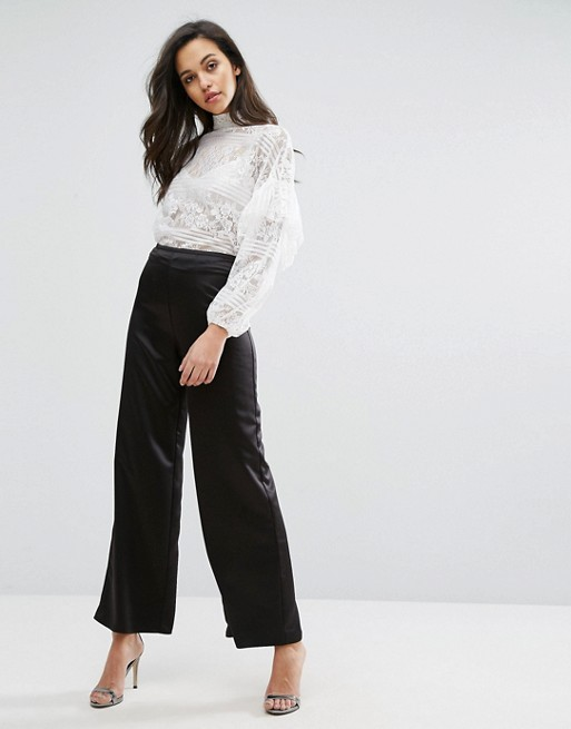 Miss Selfridge Satin Wide Leg Pant