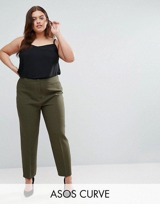 ASOS CURVE Clean High Waist Pant