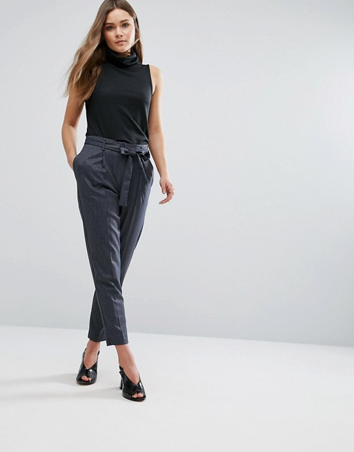 New Look Tie Waist Peg Pants