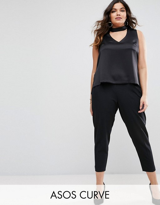 ASOS CURVE High Waist Tapered Pant