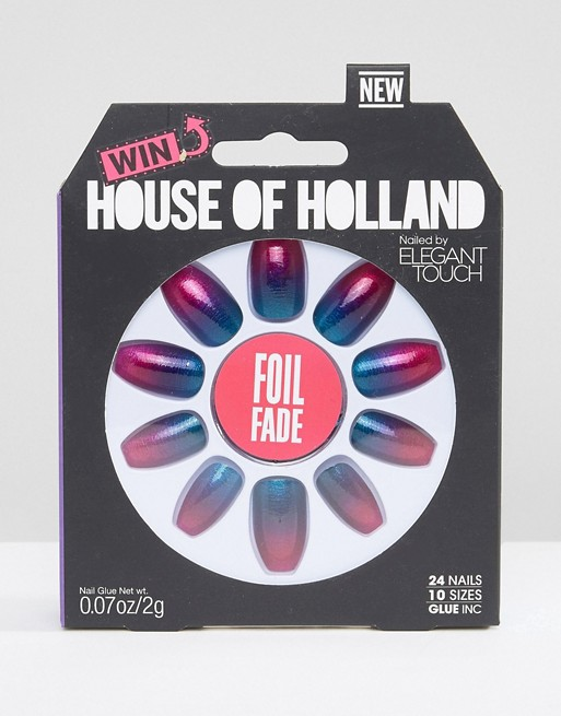 House of Holland By Elegant Touch Foil Fade Nails