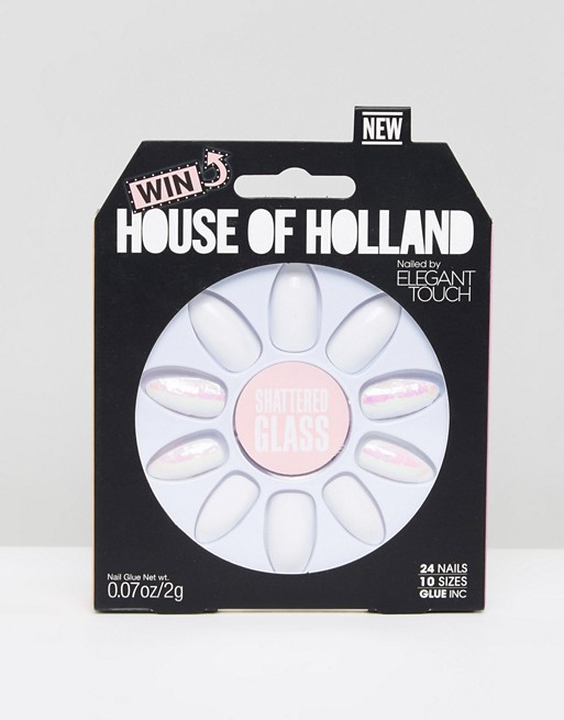 House of Holland by Elegant Touch Shattered Glass Nails