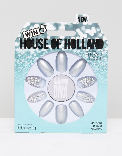House of Holland Luxe by Elegant Touch Diamond Diva Nails