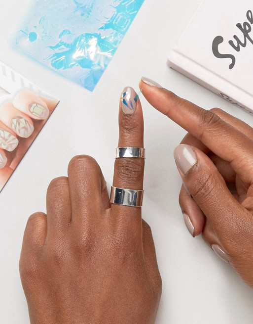Beauty Junkie Irridescent Glass Nail Stickers