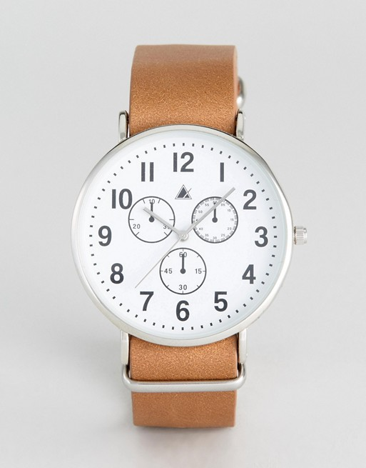 ASOS Watch With Leather Nato Strap And Vintage Styling