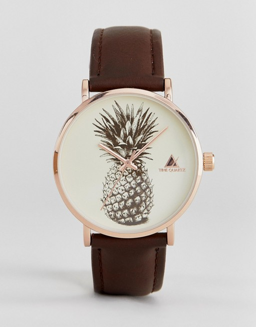 ASOS Watch With Pineapple Print Face