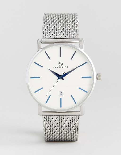 Accurist Silver Mesh Watch