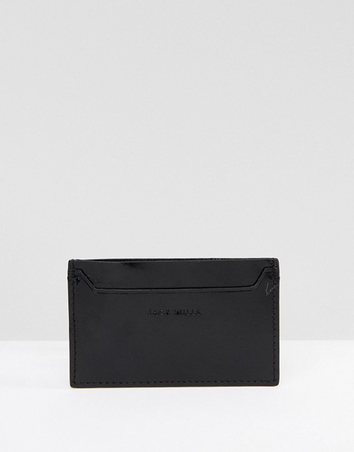 Jack Wills Lanton Leather Card Holder Black
