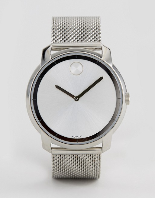 Movado Bold 3600260 Mesh Watch In Silver