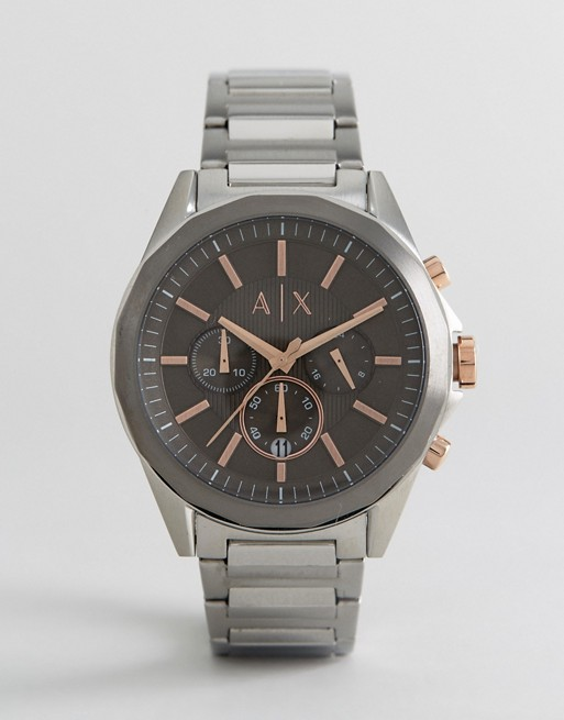 Armani Exchange AX2606 Chronograph Bracelet Watch In Silver 44mm